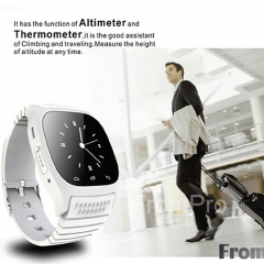 M26 Bluetooth Smart Watch Luxury Wristwatch Smartwatch Dial SMS Remind Pedometer for Android Phone white one size