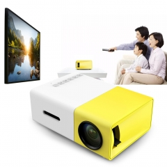 LCD Portable Projector 400-600LM 320x240 Pixel HDMI USB Mini YG300 Home Media Player Movie Projector yellow UK PLUG