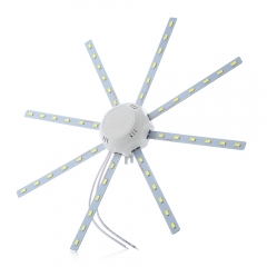 24W 1800LM 48LEDs 5730SMD LED Ceiling Lamp Octopus Round Light white one size 24W