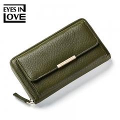 PU Leather Crossbody Bags Women Messenger Shoulder Bags Removable Strap Female Clutch Wallet Handbag green one size