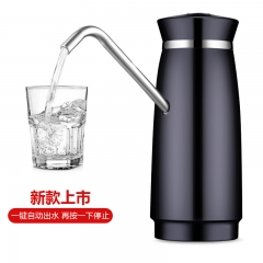 Wireless Automatic Electric Portable Water Pump Dispenser Gallon Drinking Water Bottle with Switch black