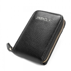PU Leather Unisex Card Holder Wallet High Quality Female Credit Women Purse black one size
