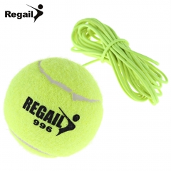 Regail 1Pc Tennis Ball With String Trainer Replacement Rubber Woolen Training Sport