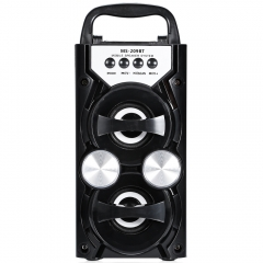Portable High Power FM Radio Wireless Bluetooth Speaker Support FM TF Card Volume Control Music Play balck 10W MS-209BT
