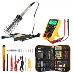 Soldering Iron Kit With Adjustable Temperature Welding Tool Multimeter Portable Welding Repair Tool