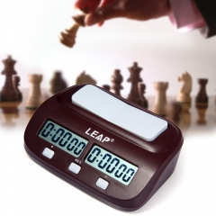Chess Clock Digital Count Up Down Electronic Game Timer Professional Chess Player Set Portable wine red