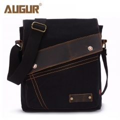 Canvas Crossbody Bag Men Women Vintage Messenger Bags Large Shoulder Bag Casual Travel Bags black one size