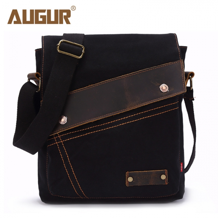 8f1a5b1e367 Canvas Crossbody Bag Men Women Vintage Messenger Bags Large Shoulder Bag  Casual Travel Bags black one size