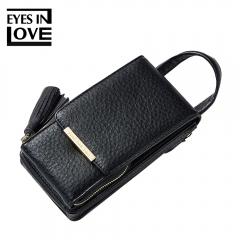 Fashion Women Wallet Shoulder Bag Messenger Chain Mobile Phone Bag Fashion Tassel Mobile Purse Bag black one size