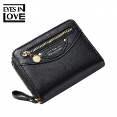 Womens Wallets Lady Holding Coin Purse Fashion Mini Multi-capacity Ladies Purse Clutch Female black one size