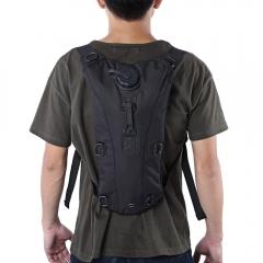 Portable 3L Water Bag Canteen Bottle Backpack Outdoor Tool balck