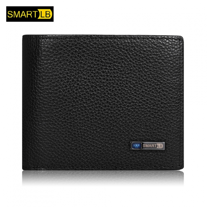 SMARTLB Wallet Finder Smart Tracker GPS Men Genuine Leather Rechargeable Card Holder brown one size