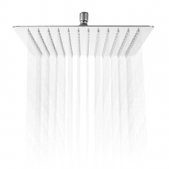 12 inch Ultra-thin Square Stainless Steel Rainfall Shower Head Top Shower silver one size