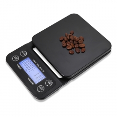 Digital Kitchen Food Coffee Weighing Scale Timer with Back-lit LCD Display black one size
