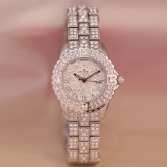 New Fashion Watch Women's Rhinestone Quartz Watch Women Wrist Watch Fashion Watches silver
