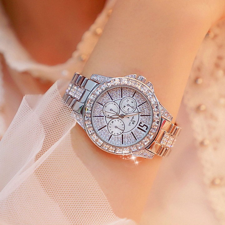 BS bee sister Lady Fashion Wrist Watch Women Famous Brand Quartz Female Watches silver