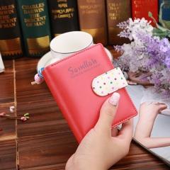 Cute Girl Short Purse Candy Wallet Zip Handbag Lovely Lady Card Holder Women Clutch Walletes red one size