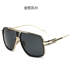 Oversized Square Sunglasses Men Retro Sun Glasses Alloy for Women Vintage Glasses black one size