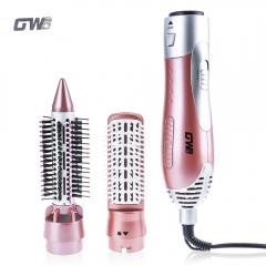 GUOWEI Hair Dryer Machine Comb 2 in 1 Multifunctional Styling Tools Set Hairdryer pink eu plug