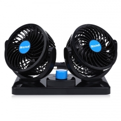 Mitchell 2 Gears 360 Degree Rotating Mini Low Noise Adjustable Car Air Conditioner Cooling Fan blue 12V