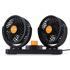 Mitchell 2 Gears 360 Degree Rotating Mini Low Noise Adjustable Car Air Conditioner Cooling Fan orange 24V