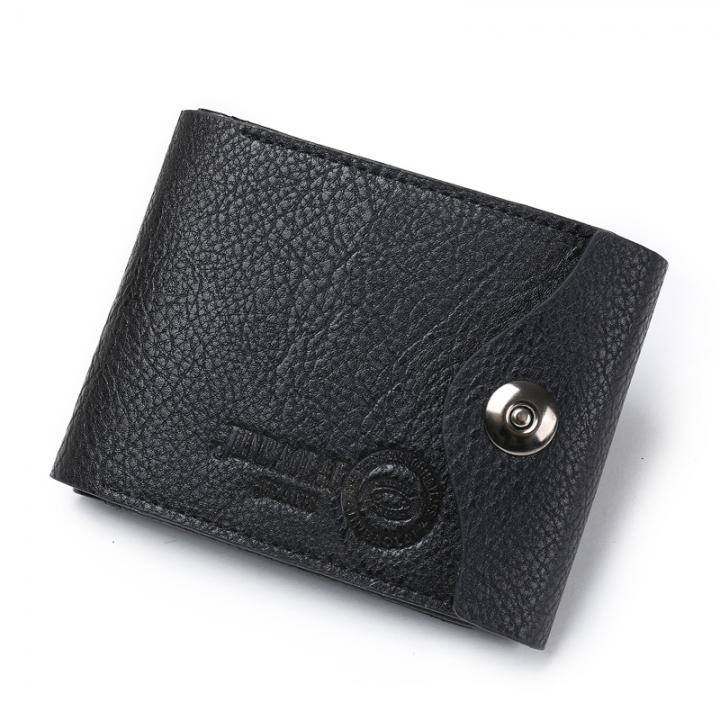 Fashion Men Wallets Leather Wallet Short Hasp Male Wallet Money Bag Card Holder Purse black one size