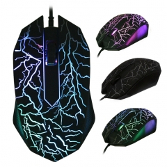 BM007 USB Wired Optical Gaming Mouse Game Mice black one size