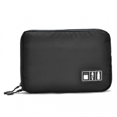 gocomma Waterproof Travel Carry Protective Pouch Case Nylon Bag for Electronics Digital Accessories black