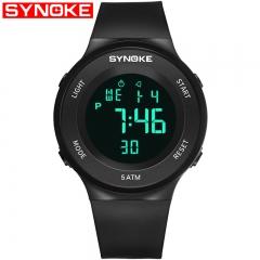 Men Sport Watch Outdoor Fitness Watch Alarm LED Digital Wrist Watches Male 50M Waterproof Wristwatch black one size