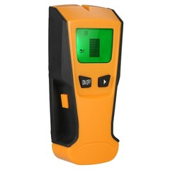 Multi-functional LCD Digital Wall Detector Metal Wood Studs Finder AC Cable Live Wire Scanner orange