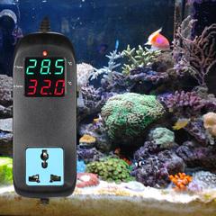 Electronic Thermostat LED Display Breeding Temperature Controller black eu plug