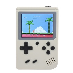 3 Inch Screen Retro Mini 2 Handheld Game Console Built-in 168 Classic Games white one size