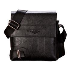 Men Fashion Business Handbag Dual-use Handbag Shoulder Bag Tote Flap Bag Chest Crossbody Bag black one size