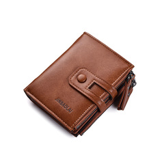 Fashion Men Wallets Male Coin Pocket Wallet ID Card Holder Purses PU Leather Wallet brown one size