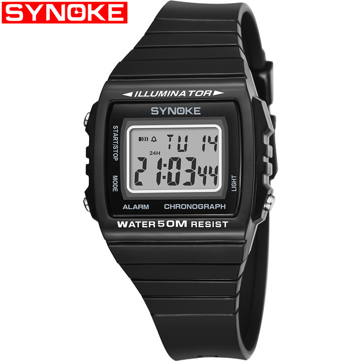 Men Sports Watches Waterproof Digital Watch Chronograph Shock Double Time Wristwatches For Gift Mens black one size