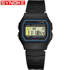 Men Fashion Watches LED Digital Sport Waterproof Wristwatch Kid Student Boy Girl Watch Gift black one size
