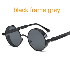Round Metal Sunglasses for Men Women Mirrored Circle Sunglasses Vintage Glasses c1 one size