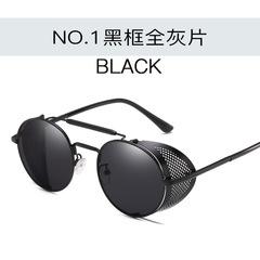 Women Men Vintage Retro Round Metal Sunglasses UV400 Steampunk Goggles Mirrored Oculos c1 one size
