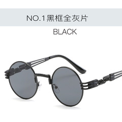 Women Metal Wrap Eyeglasses Round Shades Brand Designer Sun glasses Mirror High Quality UV400 c1 one size