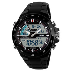 Mens Watches Fashion Casual Watch Men Sport Watch Male Clock Waterproof Fashion LED Sport Watch black one size
