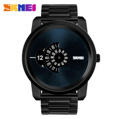 Men Quartz Watch Large Dial Quartz Watch Men's Stainless Steel Business Wristwatches Watches black one size