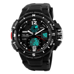 Skmei Men Sports Watches Digital LED Military Watch Waterproof Outdoor Casual Wristwatches black one size