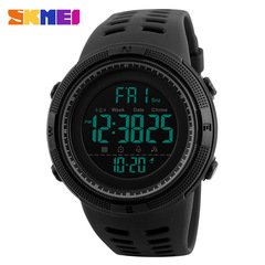 Men Sports Watches Countdown Double Time Watch Chrono Digital Wristwatches 50M Waterproof black one size