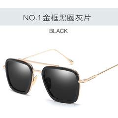 Fashion Avengers Tony Stark Flight 006 Style Sunglasses Men Square Aviation Brand Design Sun Glasses c1 one size