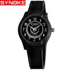 Women Watch Boy Girl Soft Silicone Cartoon Kid Watch Student Quartz Wristwatch 50M Waterproof Clock black one size