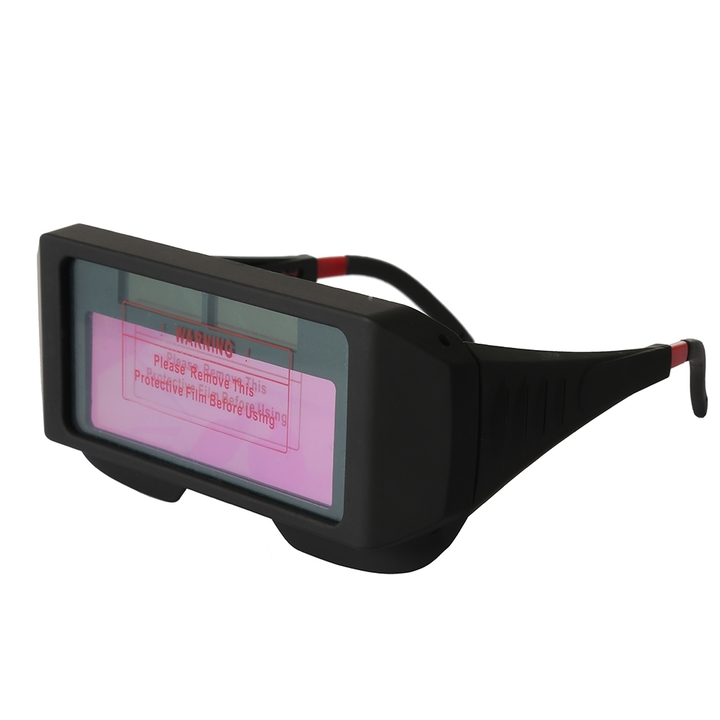 Anti-ultraviolet Solar Powered Auto Darkening Welding Glasses Eye Protection Equipment black one size