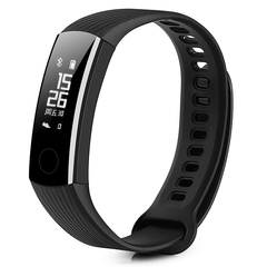 HUAWEI Honor Band 3 Smartband Heart Rate Monitor Calories Consumption Pedometer black one size