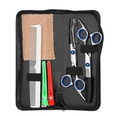 Professional Hair Cutting Scissors Set Barber Shears Hair Thinning Kit Salon Home Hairdressing Tool as picture one size
