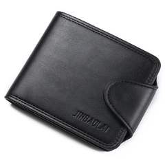 Fashion Mens PU Leather Wallet Quality Hasp Credit Card Photo Holder Coin Purse Wallets For Men black one size