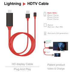 HDMI Cable for Lightning to HDMI HDTV TV Adapter Digital AV Cable 1080P For iPad Pro Air For iPhone